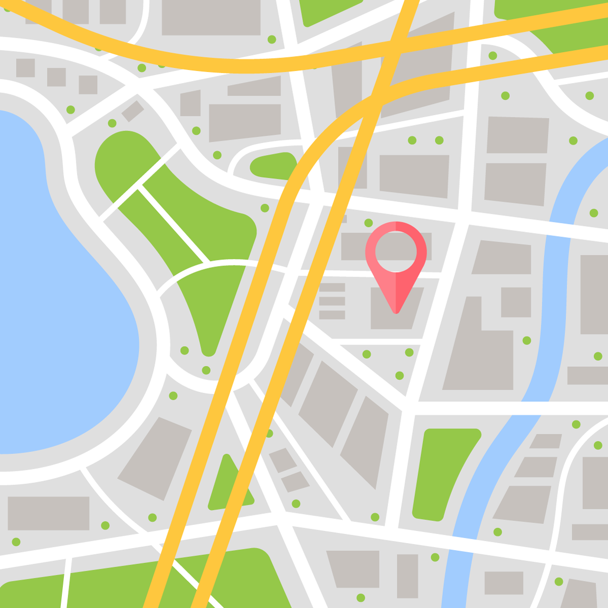 Map view with a pin